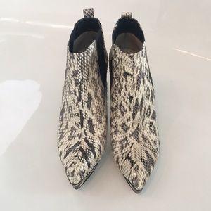 Michael Kors Snake Skin platform booties size 8